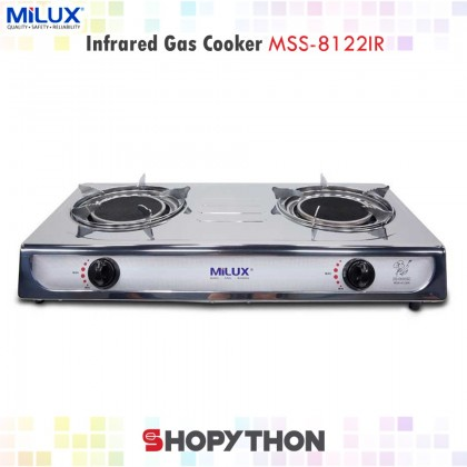 MILUX InfraRed Double Gas Burner MSS-8122IR