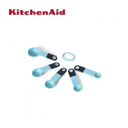 KitchenAid Set of 5 Measuring Spoons KES057OHAQA (Aqua Sky)