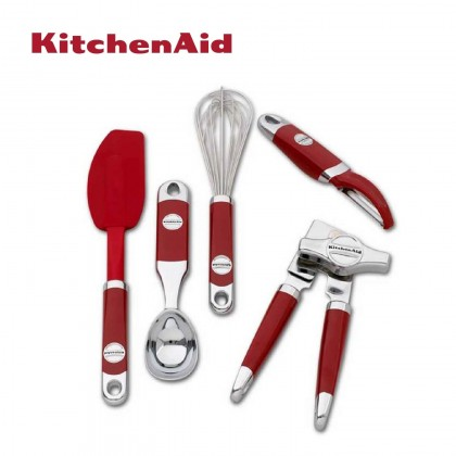 KitchenAid 5pc Red Kitchen Utensils Set KM412ER