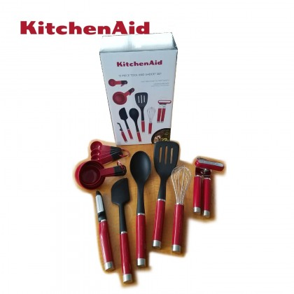 Kitchenaid 15 Pcs Tools & Gadget Set (Red) KO447BXERI