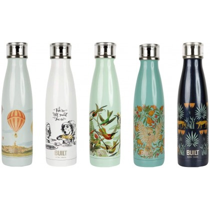 Built V&A 500ml Double Walled Stainless Steel Water Bottle, Alice In The Wonderland
