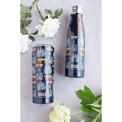 BUILT NY V&A Double Walled Stainless Steel Water Bottle 500ml (Lioness)