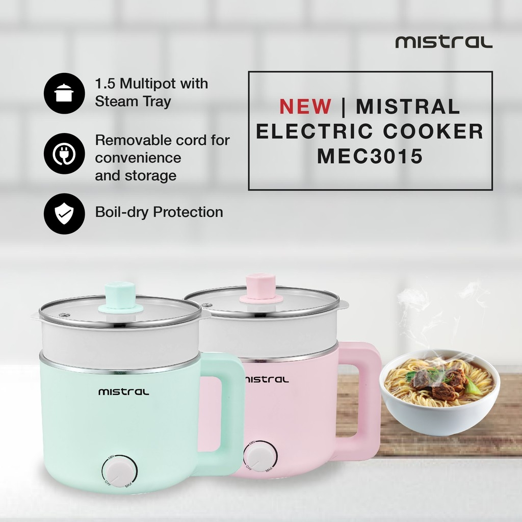 MISTRAL Multi Pot with Steam Tray MEC3015 (Mint)