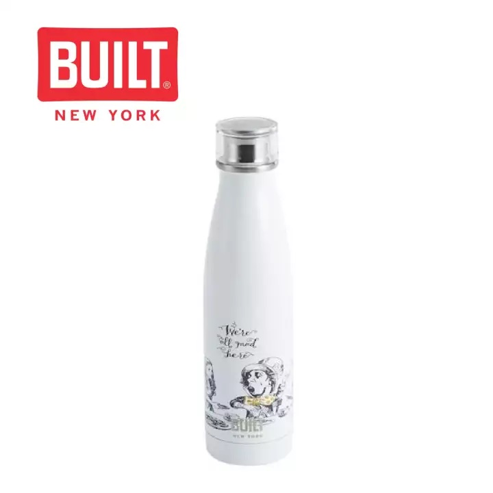 BUILT NY Perfect Seal Stainless Steel Bottle (Alice in Wonderland)